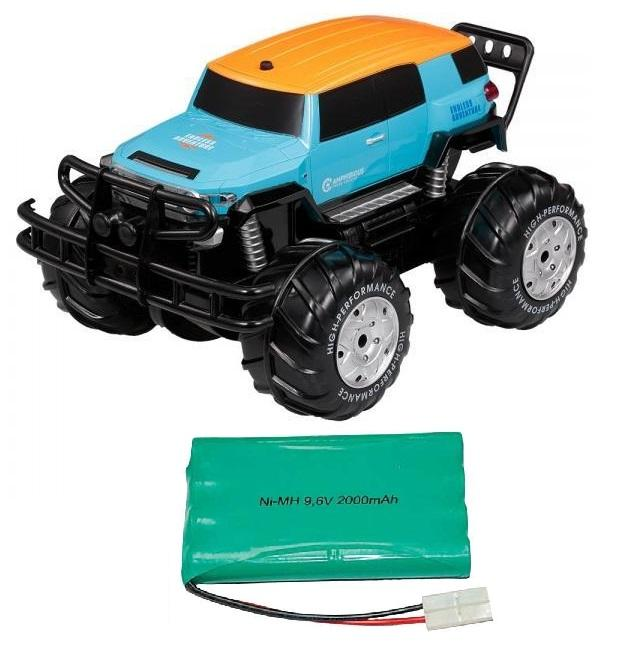 Vodotěsný CRUISER 1/10 - obojživelné RC auto + 1x náhradní Baterie 2000 mAh