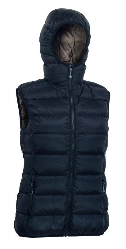 Warmpeace YUBA LADY - XS black/brown - černá/tm.modrá
