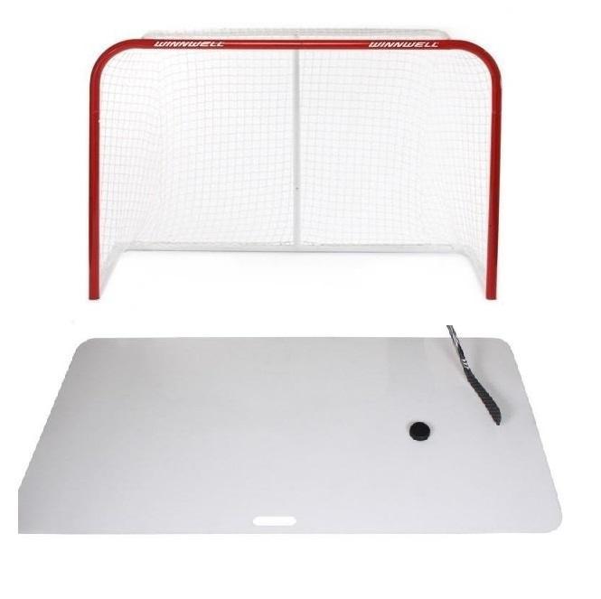 "WINNWELL 60"" hokejová branka + Merco Shooting Pad XXL deska - 60 palců"