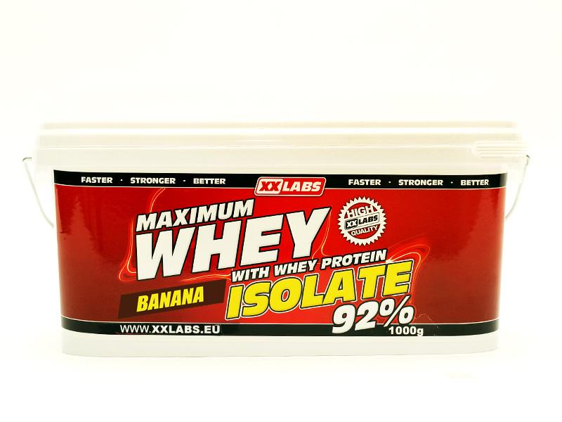 Xxlabs Maximum Whey Protein Isolate 92 1000g - banán