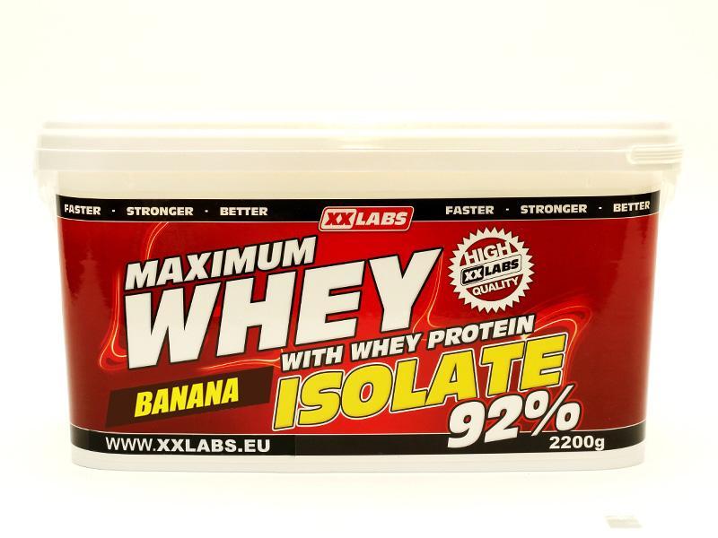 Xxlabs Maximum Whey Protein Isolate 92 2200g - banán